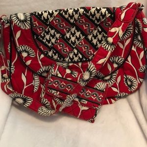Vera Bradley black, Red and White purse and Wallet